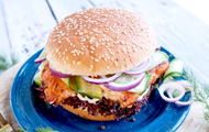 Lachs-Burger mit Dill-Remoulade