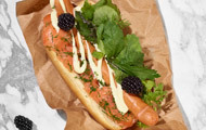 Hot Dog Graved Lachs