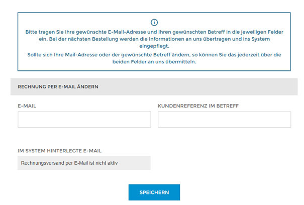 Rechnung per E-Mail Screenshot 1
