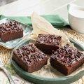 Brownie-Kuchen, vorgeschnitten