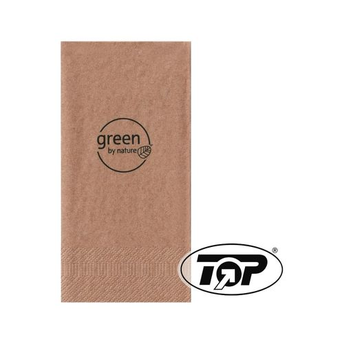 "Serviette ""green"", braun"
