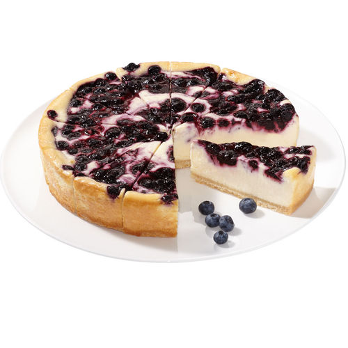 Blueberry-Cheesecake Supreme, geschnitten