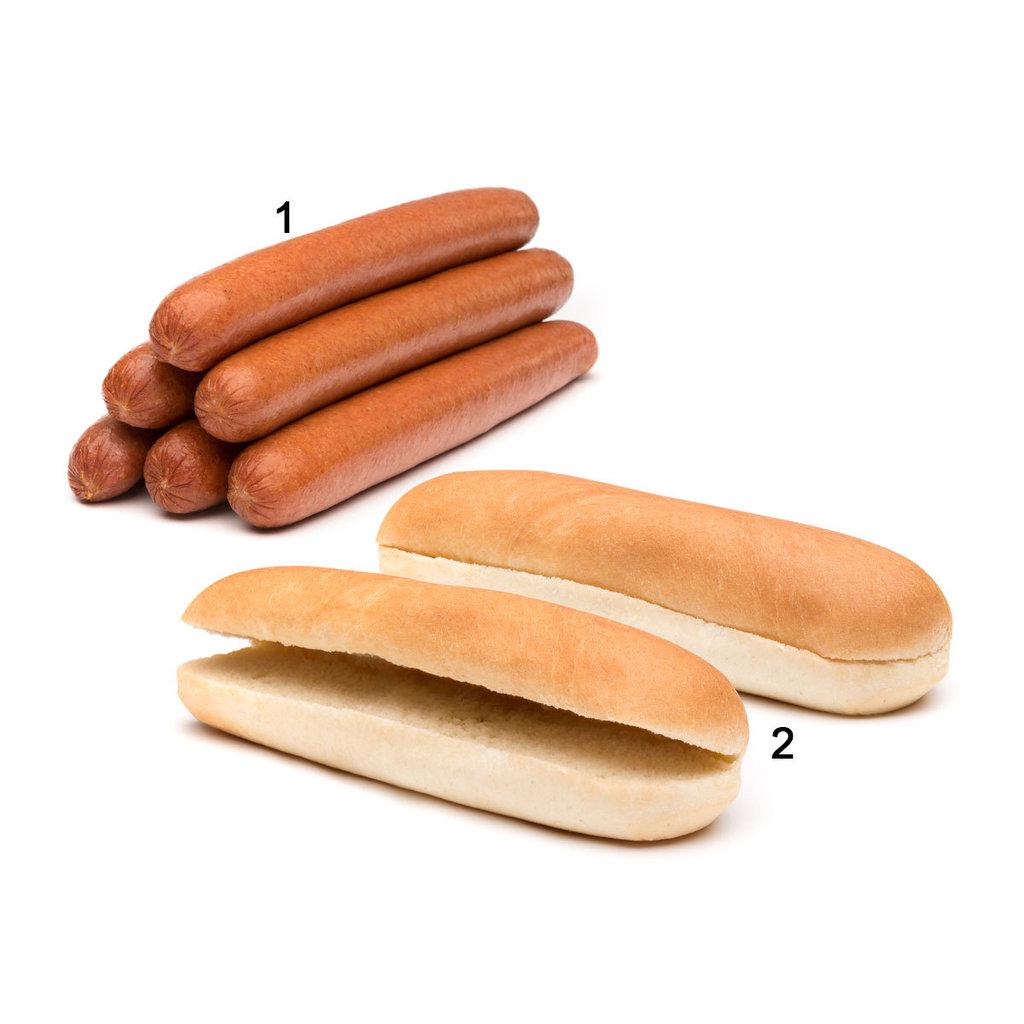 mischkarton jumbo hot dog buns rinderw rstchen online kaufen. Black Bedroom Furniture Sets. Home Design Ideas