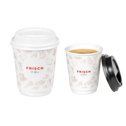 "Coffee-to-go-Becher ""FRISCH & fein"",doppel, 200 ml"