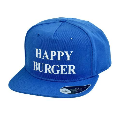 "American Cap ""Happy Burger"", blau"